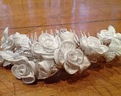 Vintage Bridal Floral Hairpiece - get this beauty at the Supreme Fabrics Etsy Store