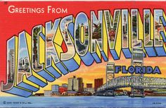 Greetings from Jacksonville, Florida - Large Letter Postcard by Shook Photos, via Flickr