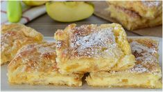 Leckere Apfelpudding Schnitten die immer gelingen Fast Metabolism Recipes, Cake Factory, Gateaux Cake, Bakery Cakes, French Toast, Deserts, Food And Drink, Baking, Breakfast