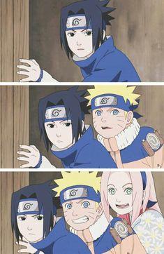 this is a filler when they found out that there is some girl Kakashi is with. Naruto And Sasuke, Naruto Team 7, Sasuke Sakura Sarada, Uzumaki Boruto, Naruto Cute, Naruto Shippuden Anime, Itachi, Naruto Drawings, Naruto Pictures
