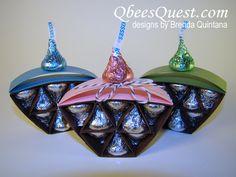Hershey's Cupcake Tutorial   Hershey's Kisses, Simply Scored, Birthday, Stampin' Up