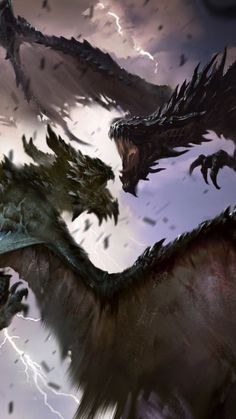Dragons fights, artwork, The elder scrolls: legends, 360x640 wallpaper