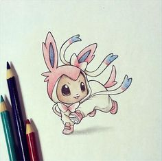 eevee dressed as sylveon from itsbirdy  ...  sylveon, eevee, pokemon