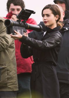 Jenna Coleman filming in Barry, South Wales - 18 May 2015