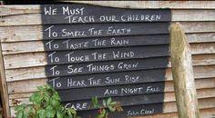 We must teach our children...