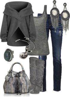 Perfekt für den Kühlen Farbtyp: Jeanslook in Grau / Silber! Kerstin Tomancok / Farb-, Typ-, Stil & Imageberatung
