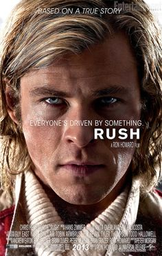 """Set against the golden age of Formula One racing in the 1970s, Rush is based on the true story of a spectacular sporting rivalry between English playboy James Hunt, and his structured, intelligent opponent, Austrian driver Niki Lauda."" Find RUSH in our catalog: http://highlandpark.bibliocommons.com/item/show/2316482035_rush"