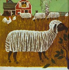 "Illustration by Moritz Kennel from ""Old MacDonald Had a Farm"" Little Golden Book (1960)"