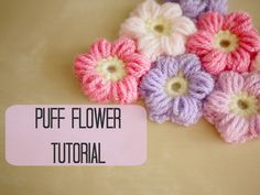 CROCHET: How to crochet a puff flower | Bella Coco* ༺✿ƬⱤღ…