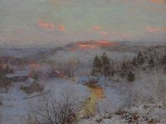 Walter Launt Palmer (1854-1932)  Waning Winter  signed and dated 'W.L. Palmer-N.A.-1906.' (lower left)  oil on canvas  30 x 40 in.