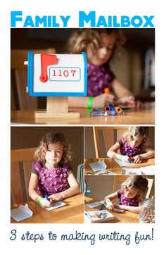 {Family Mailbox} Great way to get your little one to *enjoy* writing and reading. Cool way to connect as a family... *Perfect for family Valentines too, cute. :-)