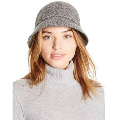 August Accessories Festive Folk Marled Knit Cloche Hat (140 ILS) ❤ liked on Polyvore featuring accessories, hats, grey, 20s hats, august accessories, gray knit hat, grey hat and 1920s hats