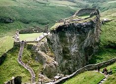 Tintagel, Cornwall, England. This was a very scary for me - but so worth it. Loved it!