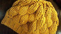 Tığ İşi Ahududu Ponçik Bere Modeli Baby Knitting Patterns, Merino Wool Blanket, Hats, Breien, Hat, Hipster Hat