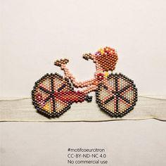 """258 Likes, 30 Comments - Emilie (@coeur__citron) on Instagram: """"Prototype de vélo,  me suis plantée sur le type de perles, il va falloir le refaire,  mais j'aime…"""""""