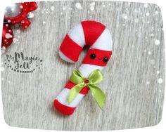 Felt Christmas ornaments Candy cane Christmas by MyMagicFelt