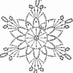 - A Snowflakes - Crochet Snowflake Pattern, Crochet Stars, Crochet Motifs, Christmas Crochet Patterns, Crochet Snowflakes, Crochet Diagram, Doily Patterns, Diy Crochet, Crochet Doilies