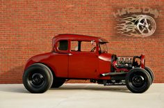 """""""Hopped Up"""" 1929 Ford Model A Coupe 327ci Motor with Three Deuces.    http://hotroddirtys.com/"""