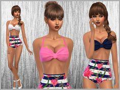 Set of 3 one piece retro high waisted bikinis for swimwear  Found in TSR Category 'Sims 4 Female Swimwear'