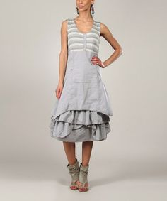 Another great find on #zulily! Gray Lila Sleeveless Dress by L33 by Virginie&Moi #zulilyfinds