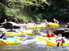 Tubing in Townsend TN. Great Smoky Mountains tubing