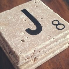 Make your own coasters for yourself, or as a great gift! Easy and inexpensive to make, but people will think you paid a fortune for them! Deco Scrabble, Scrabble Coasters, Scrabble Crafts, Scrabble Letters, Diy Coasters, Scrabble Tiles, Stone Coasters, Fun Projects, Crafty Projects