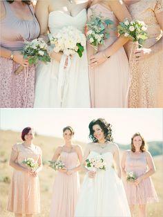 peach bridesmaid dresses #wedding #pink #peach