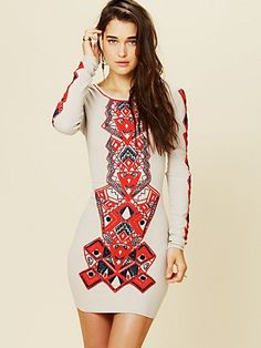 Aztec print has been everywhere lately, but I really like how they do it on this hot dress! Free People Aztec Princess Bodycon