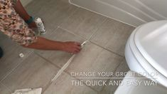 Whether you just want to go back to white or pick a new grout color.I have the easy and quicks steps for How to Change Grout Color! Cleaning Floor Grout, Clean Tile Grout, How To Clean Tiles, How To Paint Tiles, Clean Bathroom Grout, Grout Paint, Cleaning Ceramic Tiles, Painted Tiles, Deep Cleaning Tips