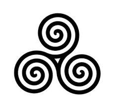 triple spiral - many meanings: life-death-rebirth, spirit-mind-body, mother-father-child, past-present-future, power-intellect-love and creation-preservation-destruction