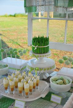 Green Dessert Table / Buffet by Sweet Fix, via Flickr