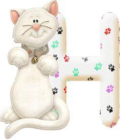 Alfabeto con gatito.....H.png (354×411)