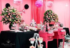 decoracao festa menina paris