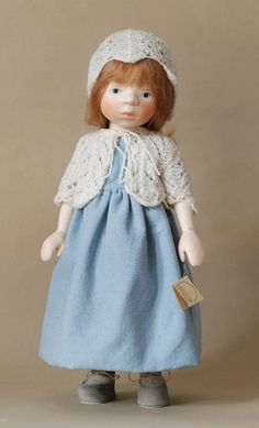 Girl in Pale Blue H341 by Elisabeth Pongratz at The Toy Shoppe