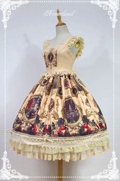 Neverland Lolita -Night at the Magic Museum- Laced Up Lolita JSK