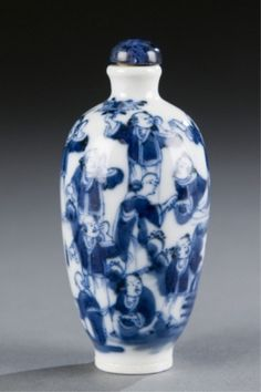 Lot 494: A Chinese porcelain snuff bottle with boys scene. c.1800-1880. Estimate: $400-$600.