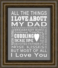 Fathers Day Gift - Gift For Dad - Gift From Kids To Dad - Other Sizes & Colors Available - 8X10 Print via Etsy