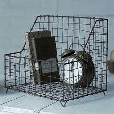 Rustic Industrial General Store Wire Basket