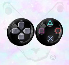 Big+Size+Pair+Playstation+PS3+PS4+Buttons+and+by+SuckMyPlug