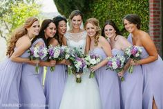 Love the flowers and hair on bridesmaids 1, 3, & 4.