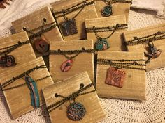 Vintage inspired Boho Chic necklaces. Available in the Krusen Creations Etsy shop. $15 with free shipping.