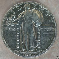 1929 s Liberty Standing Quarter AU