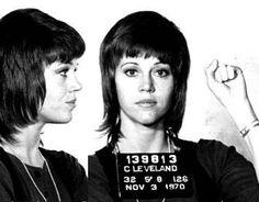 U.S. Jane Fonda mugshot, 1970