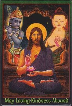 What if Christ met Krishna? Christ and Krishna are two of the greatest teachers of love that the world has ever known. Yoga, Ascended Masters, Jesus Art, World Religions, God Pictures, Hindu Art, Indian Gods, Art Graphique, Visionary Art