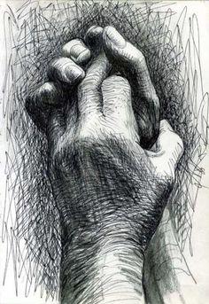 """""""The artist's hands"""" Illustration de l'artiste britannique Henry Moore Basic Drawing, Life Drawing, Figure Drawing, Abstract Sculpture, Sculpture Art, Metal Sculptures, Bronze Sculpture, Sculpture Ideas, Natural Form Artists"""