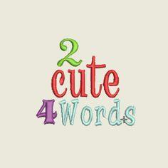 2 Cute 4 words | Spookies Treasures