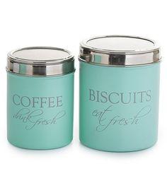 Keksirasia ja kahvipurkki, vaaleanvihreä