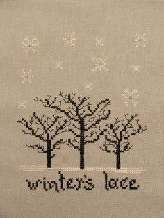 Misty Hill Studio - Winter's Lace I LIKE THIS CONCEPT BUT I THINK I WOULD SUBSTITUTE BOTH THE TREES AND THE FLAKES!
