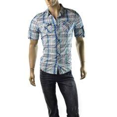 Special Offers ending soon! http://www.ebay.com/sme/imagestudio714/offers.html?&_trksid=p2047675.m1563 | Buffalo David Bitton Shirt Mens Plaid Sallex Utility T Shirts Size M $79 NEW #BuffaloDavidBitton #ButtonFront