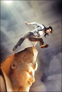 Lara Croft •Brenoch Adams . I Love this !. she's laughing ! ..